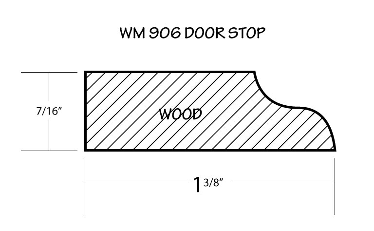 door stop moulding profile